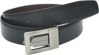 Leather Hub Men Formal Black Artificial Leather Reversible Belt Black, Brown