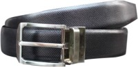 Winsome Deal Men Formal Black Genuine Leather Reversible Belt (Black)