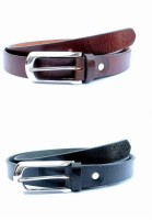 Tops Men, Women Formal Black, Brown Genuine Leather Belt (Black, Brown) - BELE4JCPTFJE2KYR
