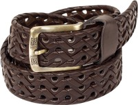 Ladecor Men Formal Brown Artificial Leather Belt (Brown)