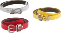 SRS Women Casual Red, White, Yellow Artificial Leather Belt Red-White-Yellow-021