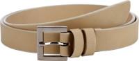 Orkee Women Casual Beige Artificial Leather Belt Beige-08