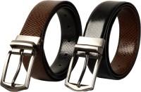 Scharf Men Formal Black, Brown Genuine Leather Reversible Belt (Black 69)