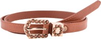 Buckle Up Women Casual Brown Artificial Leather Belt (Brown) - BELE54AXJZ55HY9C