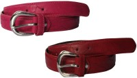 Winsome Deal Women Formal, Casual Pink, Red Artificial Leather Belt Pink, Red