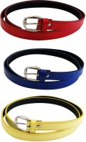 Verceys Girls, Women Casual Red, Blue, Yellow Artificial Leather Belt Red, Blue, Yellow