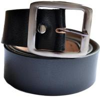 Cuero Men, Boys Casual, Formal, Party Black Genuine Leather Belt (Black-203)