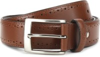 U.S. Polo Assn. Men Brown Genuine Leather Belt Cognac