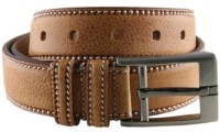 Bajya Men, Boys, Girls, Women Casual, Formal, Party, Evening Tan Genuine Leather Belt Tan