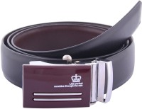 Sfa Men Formal Black Artificial Leather Reversible Belt (Black, Brown351)