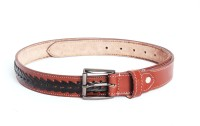 Ligans NY Men, Women Formal, Casual Brown, Black Genuine Leather Belt (Brown)