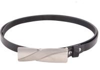 SkyWays Women Casual Black Artificial Leather Belt (Black-01)
