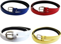 Verceys Girls, Women Casual Blue, Red, White, Yellow Artificial Leather Belt Blue, Red, White, Yellow