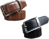 Winsome Deal Men Formal, Casual Black, Brown Artificial Leather Belt Black, Brown - BELE8HAAQFAFU6EB