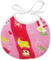 Wonderkids Heart Print Baby Foam Bib - Pink