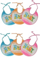 Aarushi Baby Feeding Bibs Pack Of 6 (Multicolor)