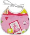Wonderkids Heart Print Baby Foam Bib - Pink - BIBEFMV6PJSTNEMM