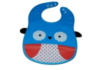 Abracadabra Animal Bib With Pocket-Blue/White Owl (Blue, White)
