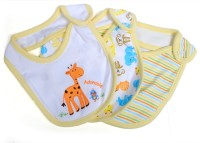 Baby Bucket Soft Cotton Bib (Yellow)
