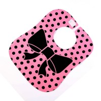 Baby Oodles Cloth Bib Pink Polka (Pink)
