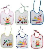 Tinny Tots Baby Terry Bib With Waterproof Laminated Back (Multi)