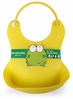Shopo Waterproof Nicole Baby Soft Bib For Kids (Yellow)