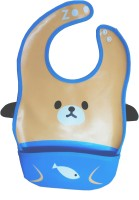 Abracadabra Animal Bib With Pocket-Orange/Blue Bear (Blue)