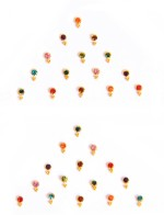 Vinita's Bindis Vinita's Designer Stone Forehead Multicolor Bindis