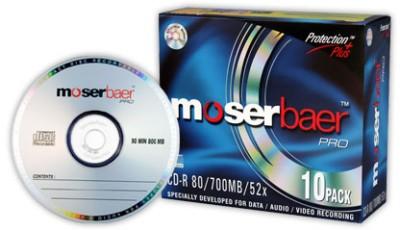 Buy Moser Baer Pro CD-R 10 Pack Slim Jewel Case: Blank Media