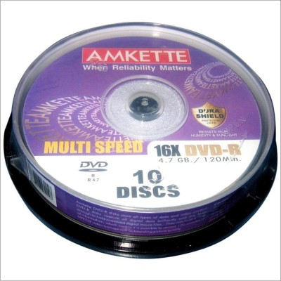 Buy Amkette Pro DVD-R 10 Cake Box: Blank Media