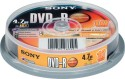 Sony DVD-R 10 Pack Spindle - Pack Of 10