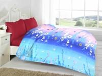 Fabutex Floral Double Fleece Blanket Blue, 1 Fleece Blanket