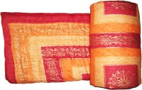 Rangasthali Jaipuri (Sanganeri) Ethnic Golden Print Bed Printed Single Blanket Multicolor