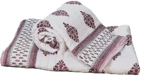 Little India Abstract Single Quilts & Comforters Brown