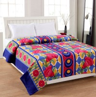 Pranaya Collections Floral Double Blanket Multi Color, One Blanket