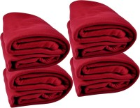 Kema Plain Single Blanket Red Fleece Blanket, 4 Polar Fleece Blanket