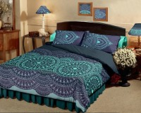 Raymond Home Embroidered Double Quilts & Comforters Blue