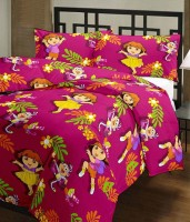 Best Dora Doll Print AC Printed Single Blanket (Fallalin, Multicolor)