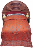Jaipur Raga Floral Single Quilts & Comforters Red, Quilt