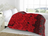 Fabutex Floral Double Quilts & Comforters Red AC Quilt, 1 Blanket