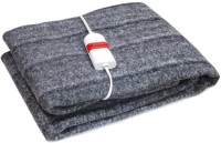 Jsb Plain Single Electric Blanket Grey, Electric Heating Blanket With Wired Remote, Instructions Insert, Warranty Card, Customer Support Insert