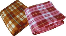 DEVANK Checkered Double Blanket multicolor