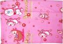 U & ME Cute Print Covering Sheet(DOHAR)With Side Velcro Pink Receiving Blanket - Single
