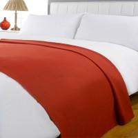 K Decor Plain Double Blanket Red Fleece Blanket, 2 Double Bed Fleece Ac Blanket
