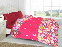 Fabutex Geometric Double Fleece Blanket Red, 1 Fleece Blanket
