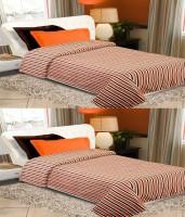 Home Originals Striped Single Blanket Multicolor, 2 Single Bed AC Fleece Blanket