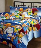 5 Second Doraemon Blue AC Reversible Printed Single Blanket (Fallalin, Multicolor)