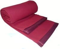 Peponi Plain Single Blanket Red Fleece Blanket, Peponi-Plain Antipill Fleece Blanket With Satin Border (Shodi Wool)