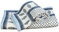 Indigocart Self Design Double Quilt Blue