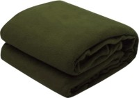 RS Quality Plain Single Quilts & Comforters Green 1 Plain Blanket